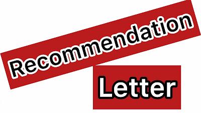خطاب التوصية- Recommendation Letter
