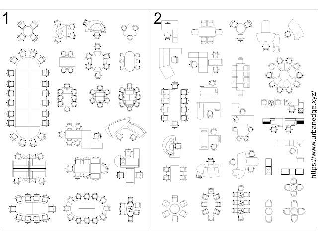 Modern Office Furniture free cad blocks download - 50+ free office cad blocks
