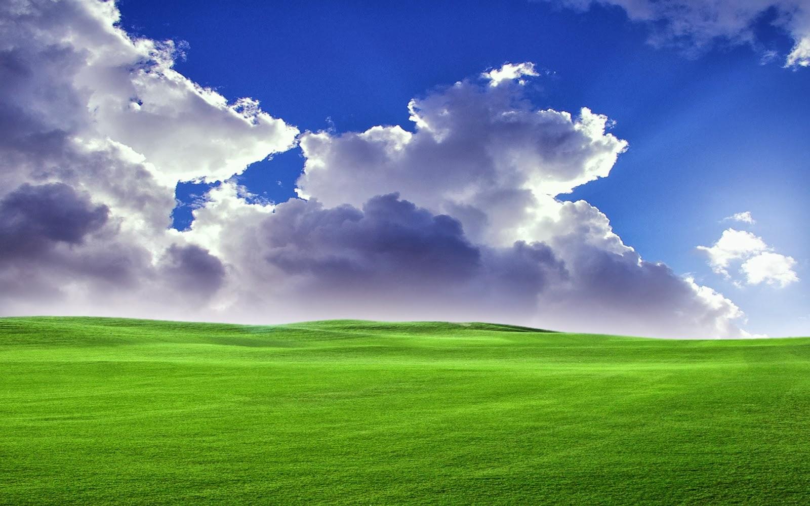 Animated Wallpapers Free Download For Xp Fondo De Pantalla Paisaje Campo Verde Con Nubes En El