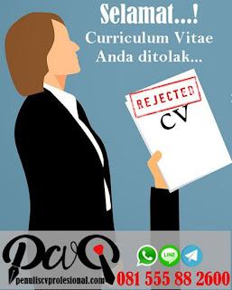 Selamat...Curriculum Vitae Anda Ditolak dan Dikembalikan