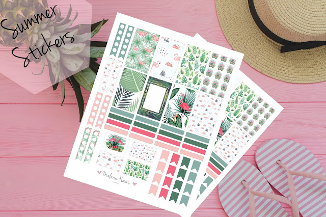 Free Printable Summer Themed Stickers