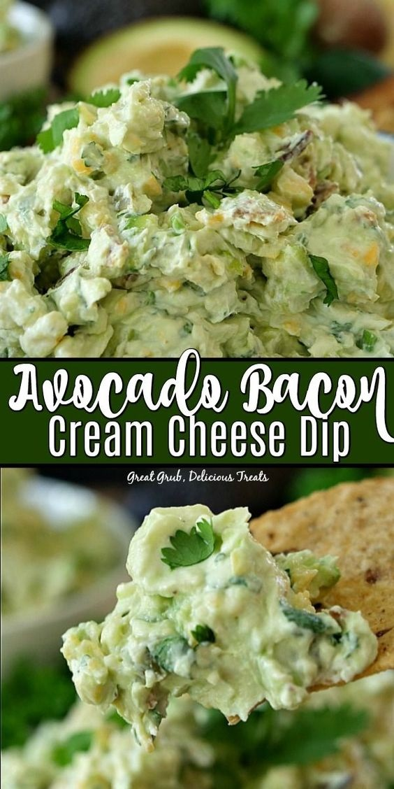 Avocado Bacon Cream Cheese Dip