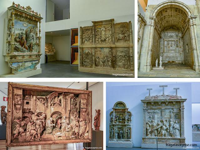 Peças de altares no Museu Nacional Machado de Castro, Coimbra