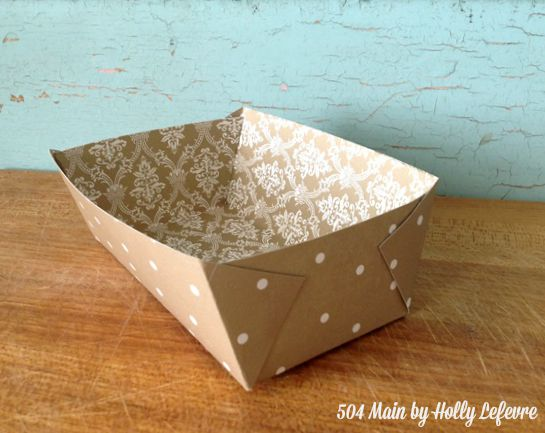 504 Main by Holly Lefevre: DIY Paper Food Tray + Template