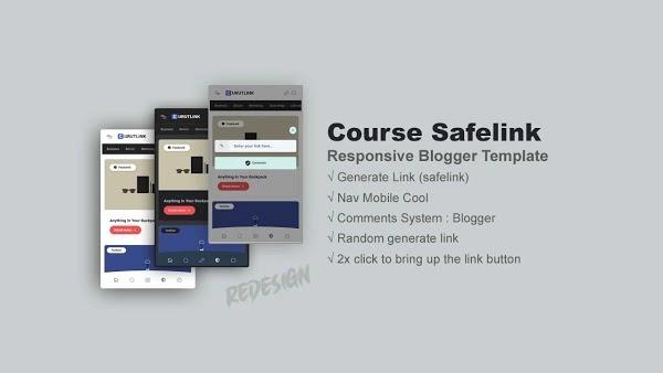 Safelink Course v2 Blogger Template Download Free