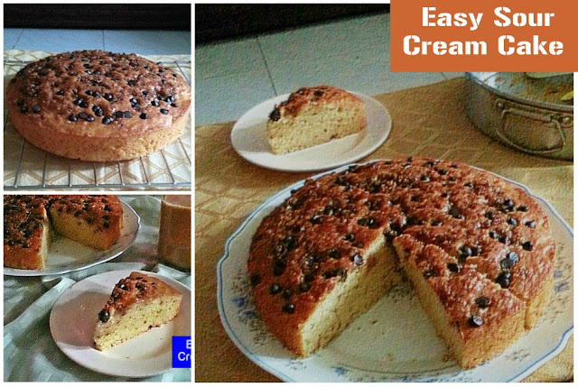 Easy Sour Cream Cake Recipe @ treatntrick.blogspot.com