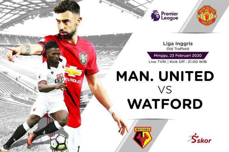 Susunan Pemain Manchester United vs Watford
