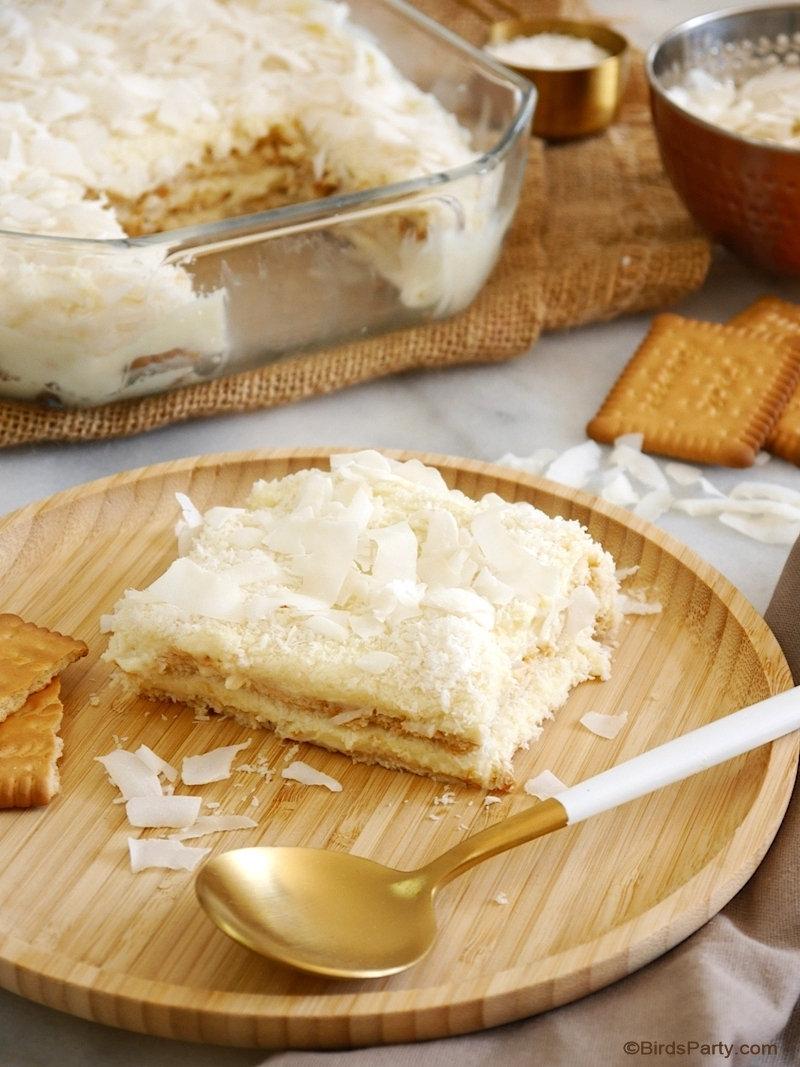 Recette de Pudding à la Noix de Coco Sans Cuisson