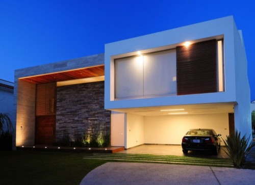 Construindo minha casa clean fachadas de sobrados for Casas estilo minimalista de dos plantas