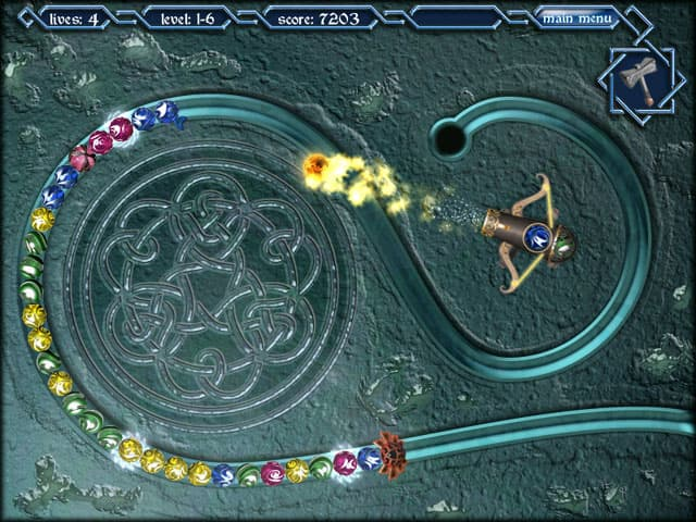 لعبة اطلاق الكرات الملونة ميثيك بارلز Mythic Pearls