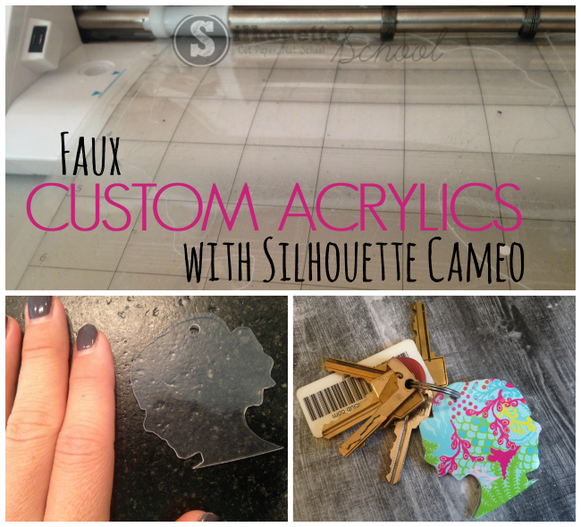 silhouette cameo, silhouette cameo tutorials, acrylics, blank acrylics, key chains