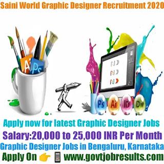 Saini World Graphic Designer Recruitment 2020-21