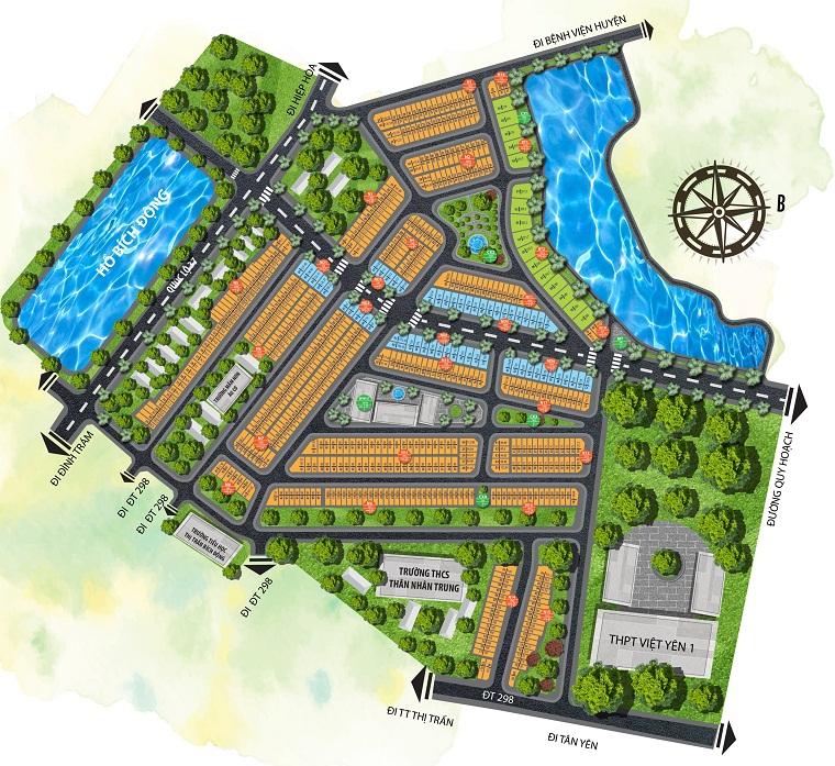 Tổng quan khu đô thị Việt Yên Lakeside City