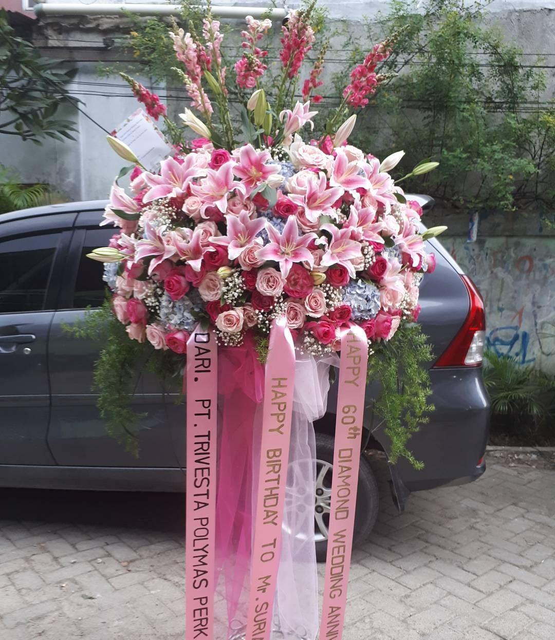 Karangan Bunga Standing Flowers 009
