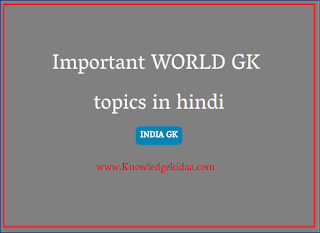 Important World gk topics in hindi