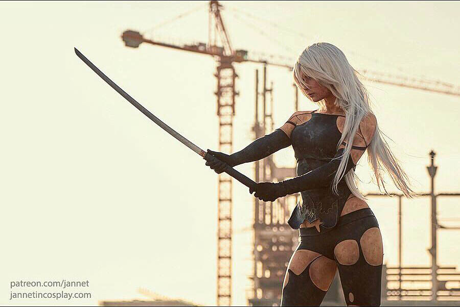 jannet vinogradova sexy a2 from nier: automata cosplay 04