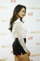 Pragya Jaiswal in lovely Black Mini Skirt and White Transparent Shirt ~  Exclusive 046.JPG