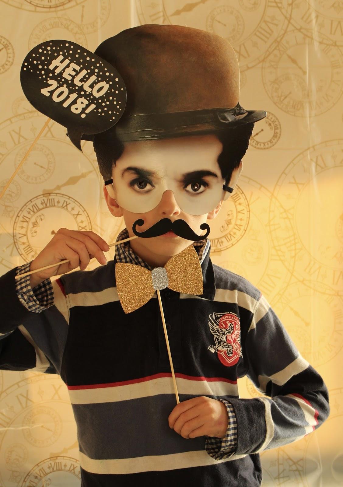 Jonathan als Charlie Chaplin - Silvester 2017