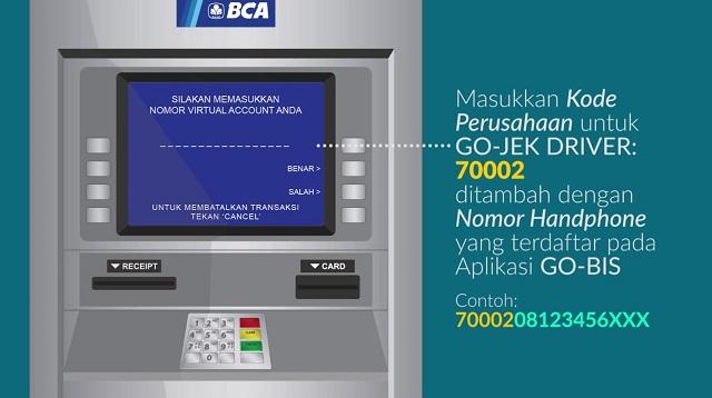 Cara Top Up Gopay Via BCA