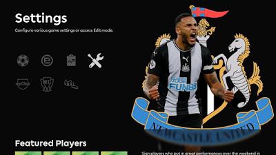 PES 2020 Newcastle United FC Menu Mod by Hawke