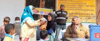 मदरसे में पिलायी गयी पोलियो ड्राप | #NayaSaberaNetwork