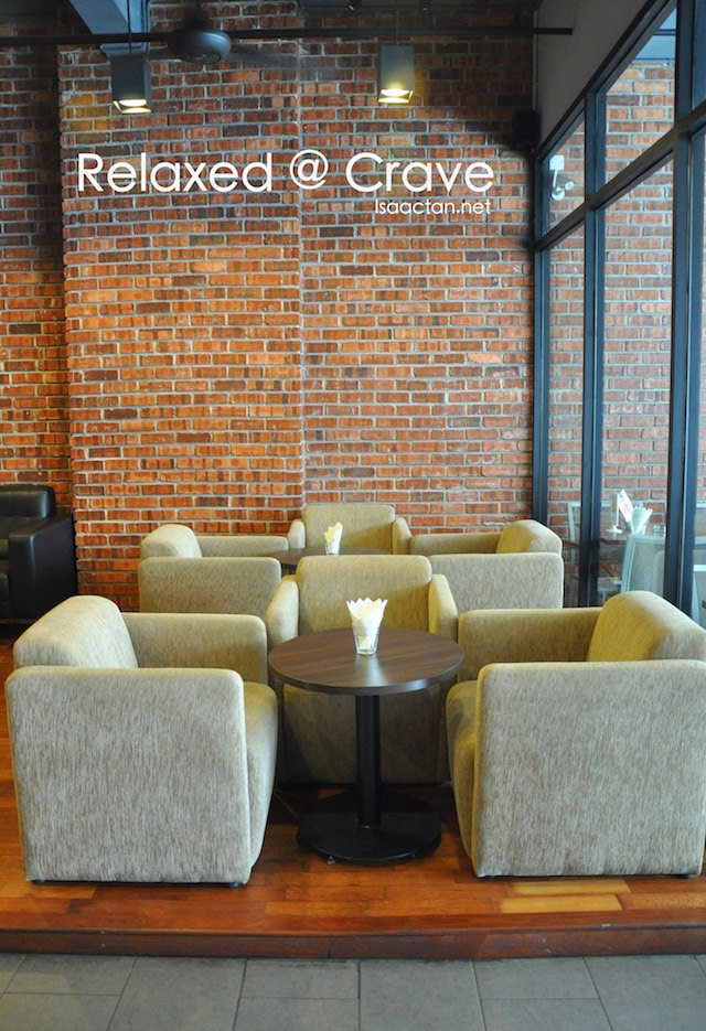 Relaxing, comfy decor of Crave
