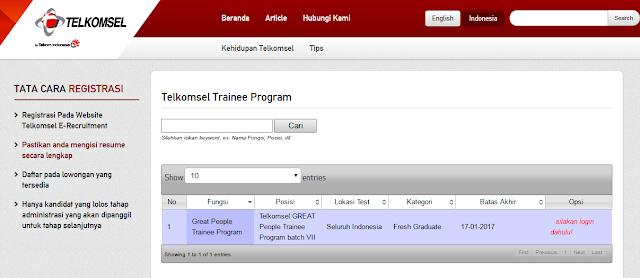 Telkomsel GREAT People Trainee Program batch VII