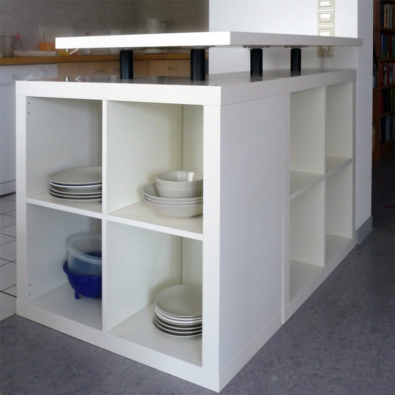 Ikea Ilot Cuisine: L-Shaped Expedit Kitchen Island