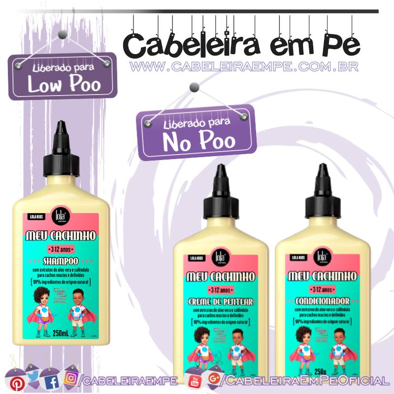 Shampoo (liberado para Low Poo), Condicionador e Creme para Pentear (liberados para No Poo) Camomilinha - Lola Kids