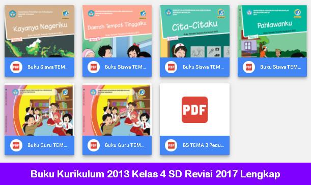 Buku Kurikulum 2013 Kelas 4 SD Revisi 2017 Lengkap