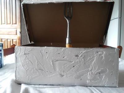Reciclagem de caixa de sapato passo a passo