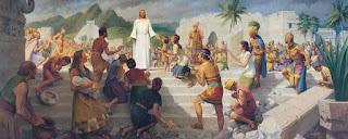 Jesus Teaching in the Western Hemisphere (Jesus Christ Visits the Americas) by John Scott, 1969