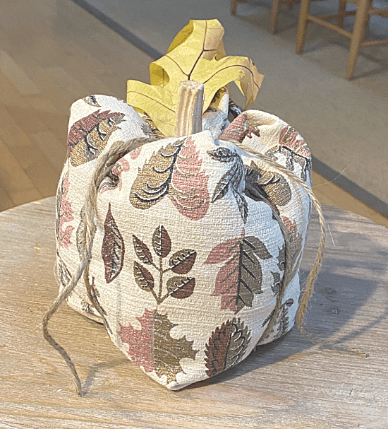 Barkcloth fabric pumpkin
