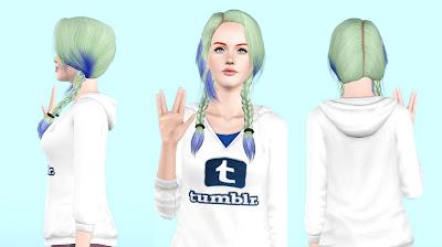 My Sims 3 Blog Helga 89 Sleepy Braids Conversion By Rayne