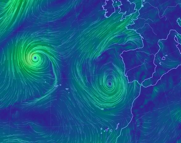Tormenta tropical o subtropical próxima a Canarias el jueves 17 septiembre