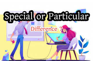 Particular or Special - Difference