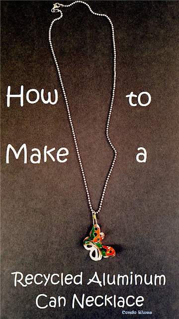 How to make a recycled soda pop can butterfly necklace