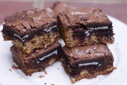 Slutty Brownies Recipe #desserts #cakerecipe #chocolate #coocies #brownies