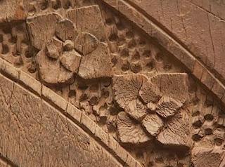 ancient door close up