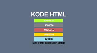 Cara Merubah Warna Tulisan Pada Chat Game Kolom - PWM Indo