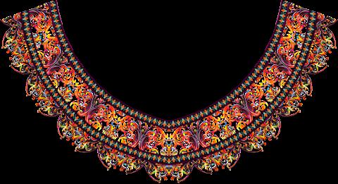 Vector-pattern-textile-kurti-neck-design-7023
