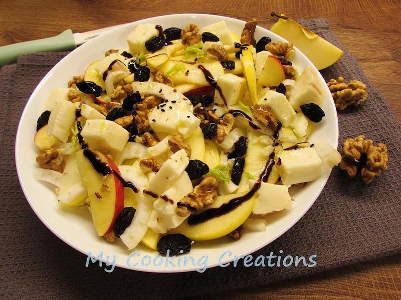 Салата с резене, ябълки и бри * Insalata di finocchi e mele