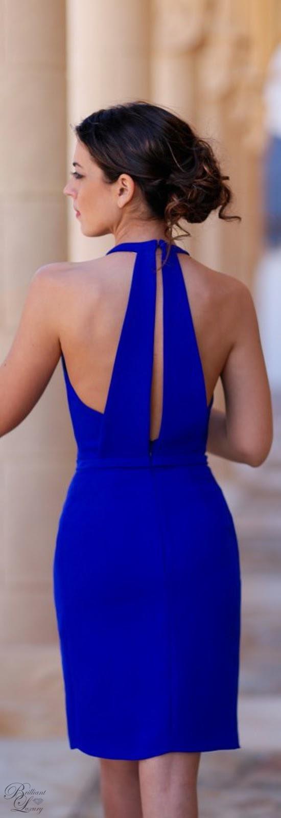 Brilliant Luxury ♦ Silvia Navarro blue Mare dress