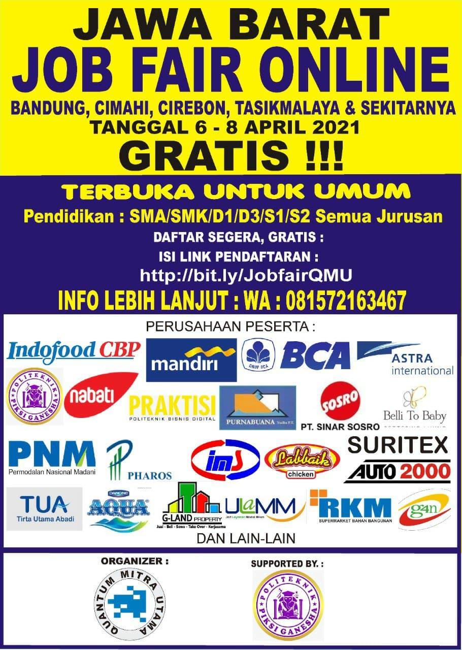 Job Fair Online Bandung 6 - 8 April 2021