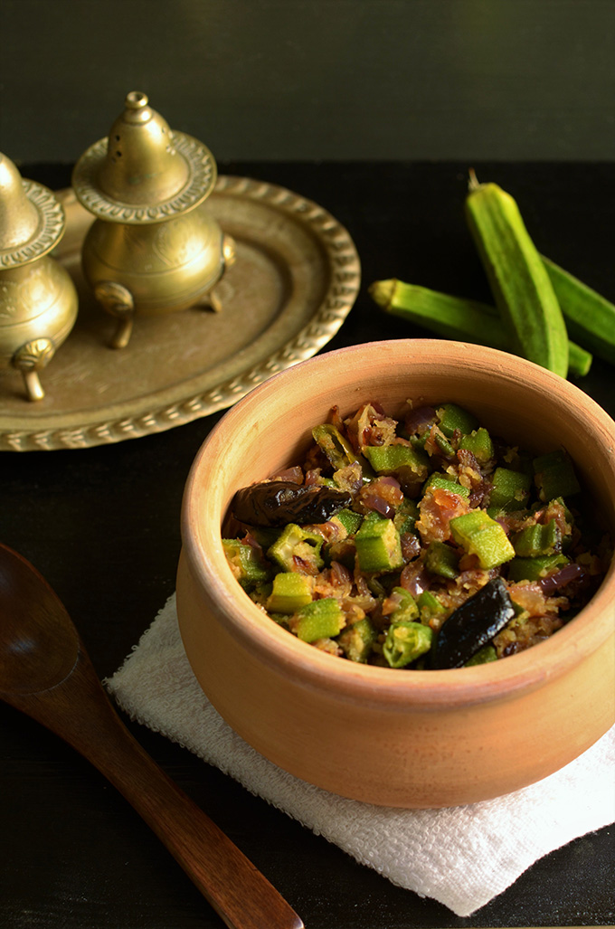 okra with dessicated coconut