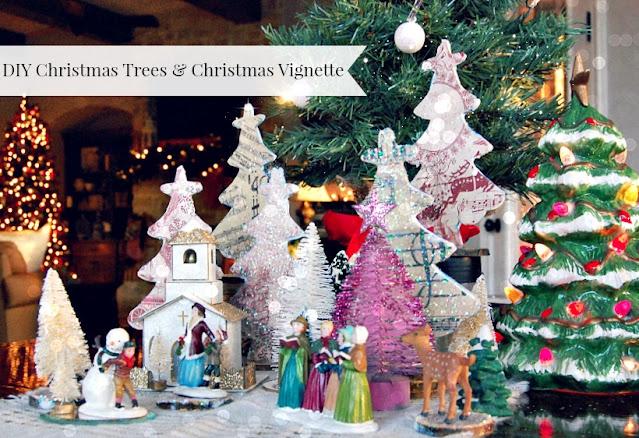 cardstock, Christmas, Trees, Diy, Modpodge, handmade, crafts, family, athomewithjemma