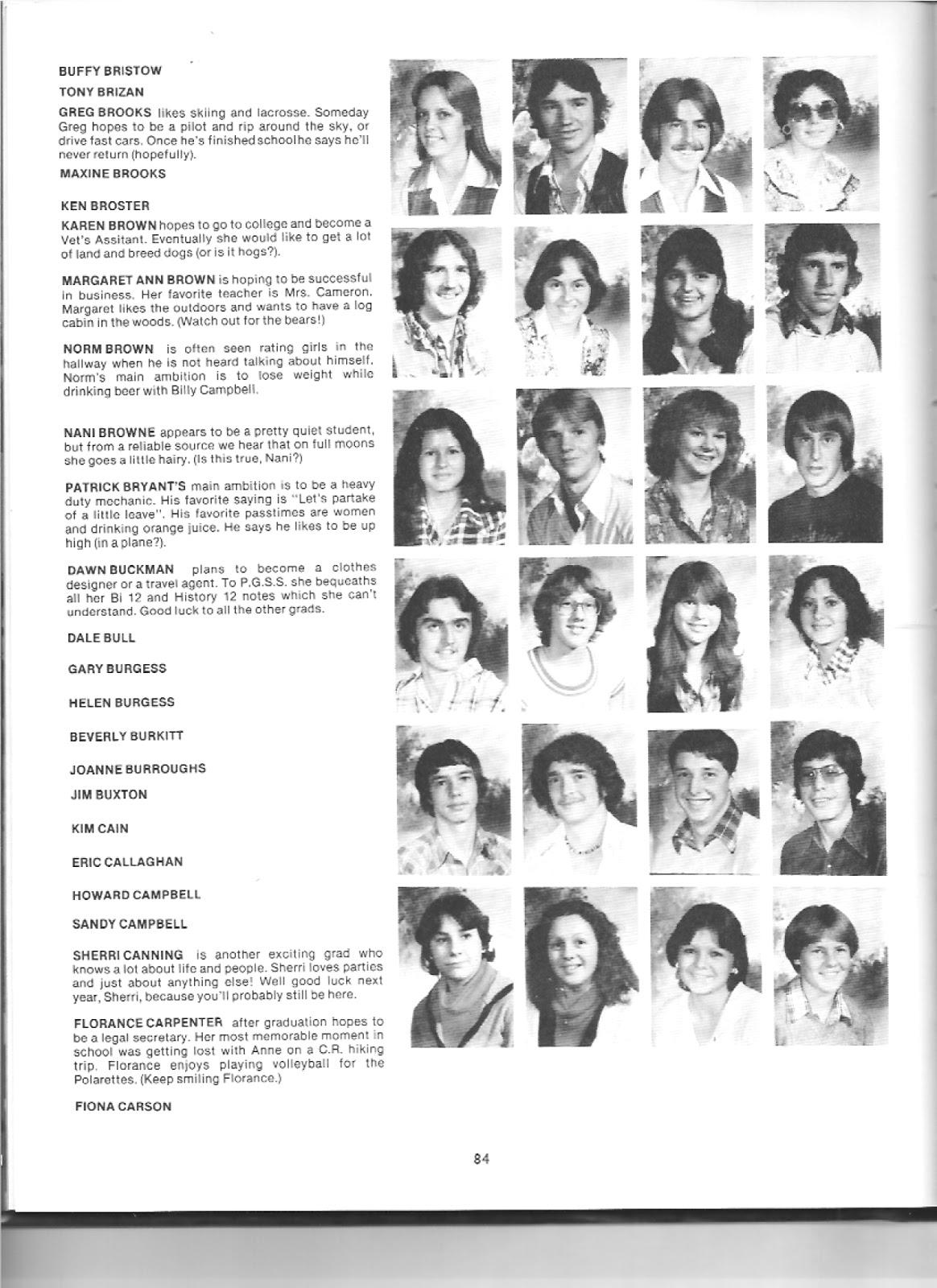 Prince George Senior Secondary Class of 1979: 1979