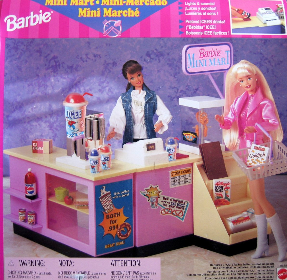 Kitchen Set Online Shopping: Barbie Mini Mart Playsets: Let's Go Snack Shopping