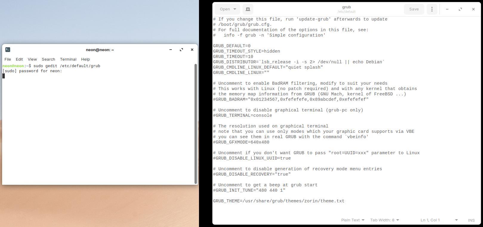 Cara Mengubah Kecepatan Boot Ubuntu Linux Grub