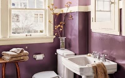 Diseño baño morado